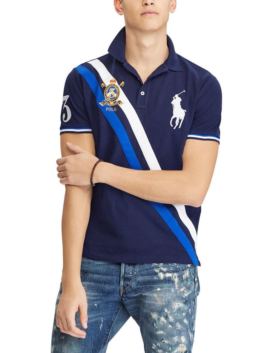 Playera Polo Ralph Lauren algodón azul marino  5223ec3f42d