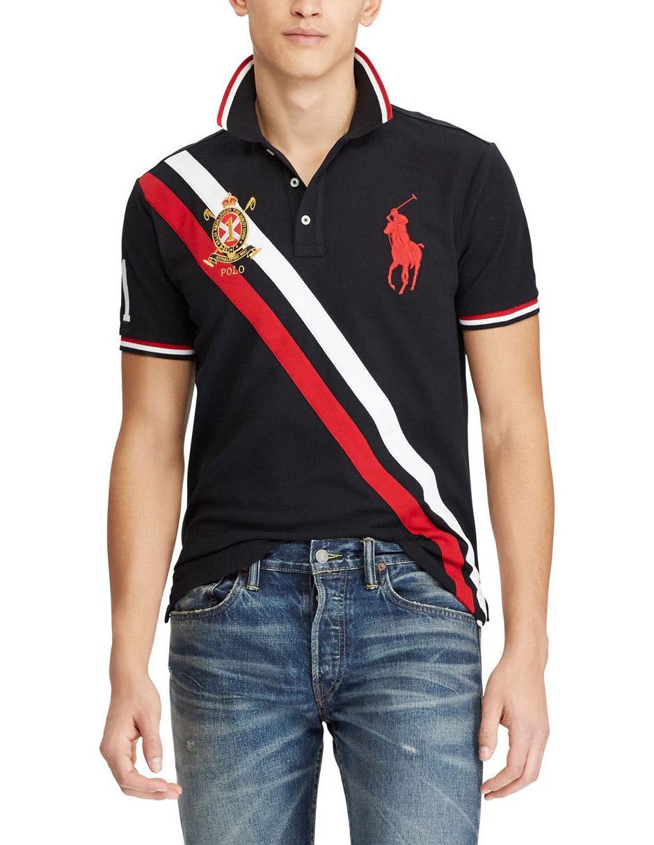 Playera Polo Ralph Lauren algodón negra ad5a8d8825f